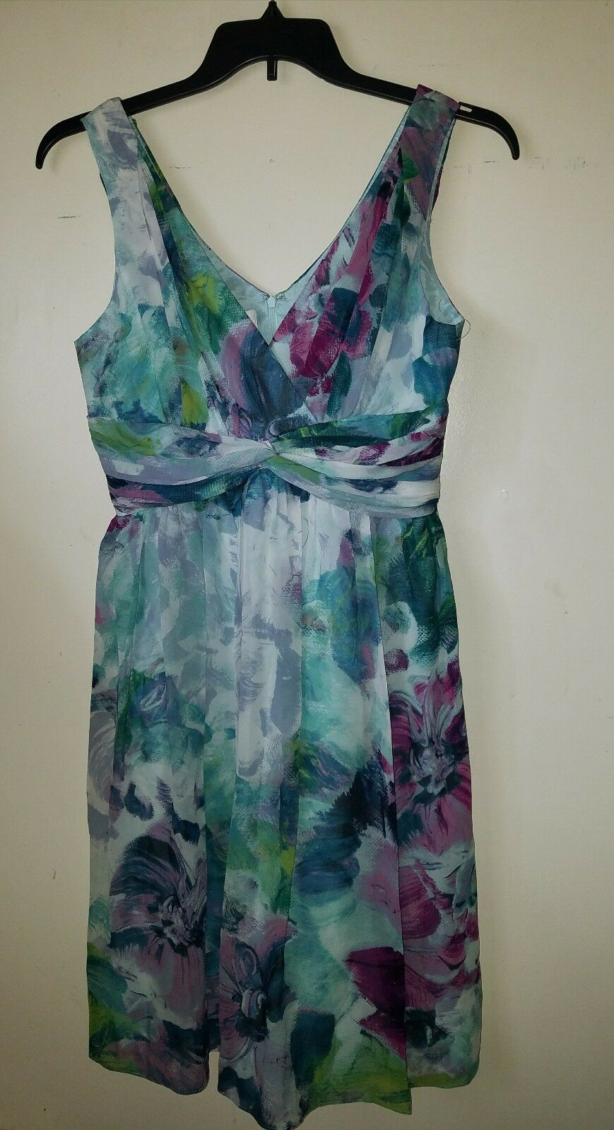 NWOT damen Morgan Woherren  Silk Floral Print Dress