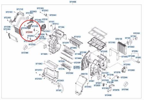 Genuine Evaporator Heater Actuator 971593K000 For Hyundai Azera 2006 2010