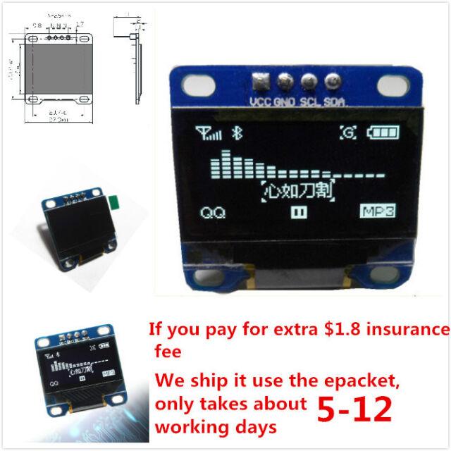 """0.96"""" I2C IIC SPI Serial 128X64 White OLED LCD Display Module for Arduino Gf"""