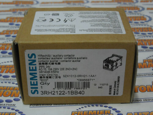 CONTACTOR RELAY 2NO+2NC DC 24V SCREW NEW IN BOX 3RH2122-1BB40