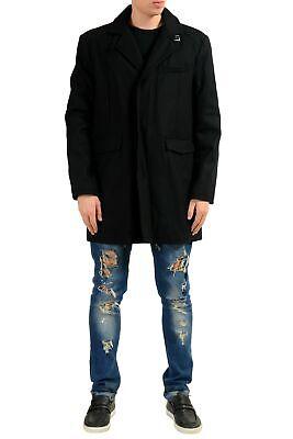 Kenneth Cole New York Homme Laine Noir Manteau Taille L XL
