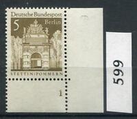 Berlin Mi-Nr 270  Ecke 4 mit Formnummer 1  ** Postfrisch 1966 (599)