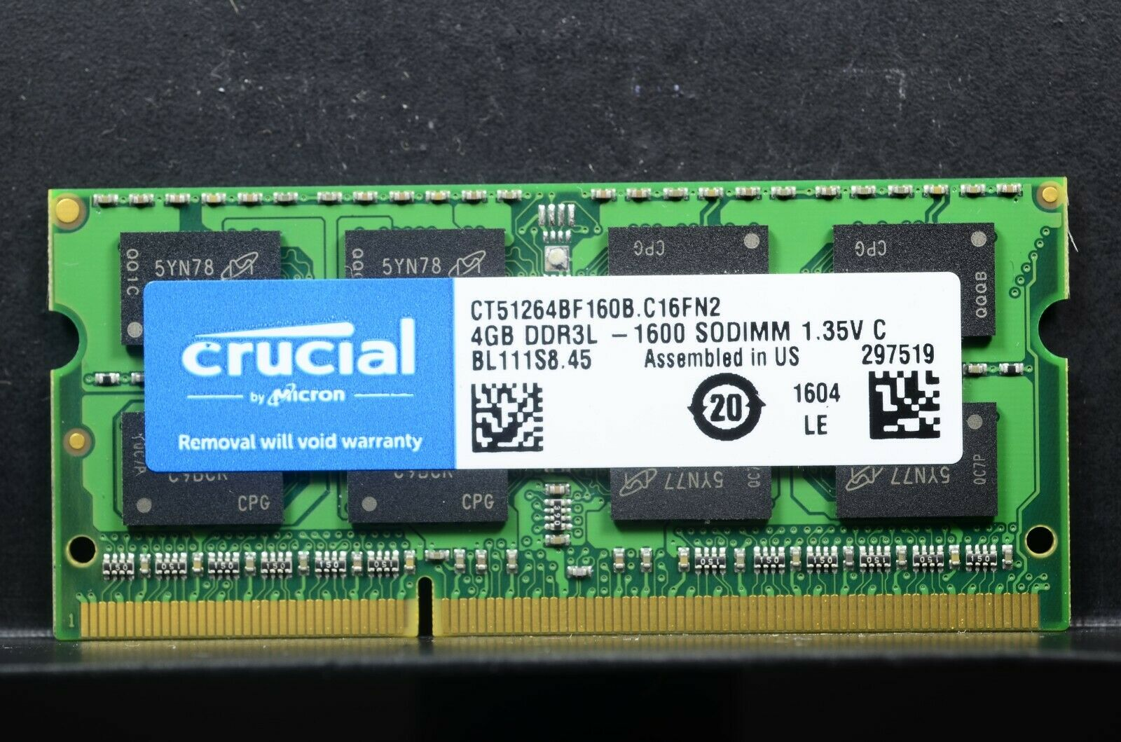 Used LOT(100) Mixed Brand 4GB PC3L-12800S DDR 1600 MHz SO-DIMM Low Voltage Laptop RAM.