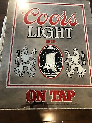 Vintage 1983 Coors Light Beer On Tap Mirror Man Bar Cave