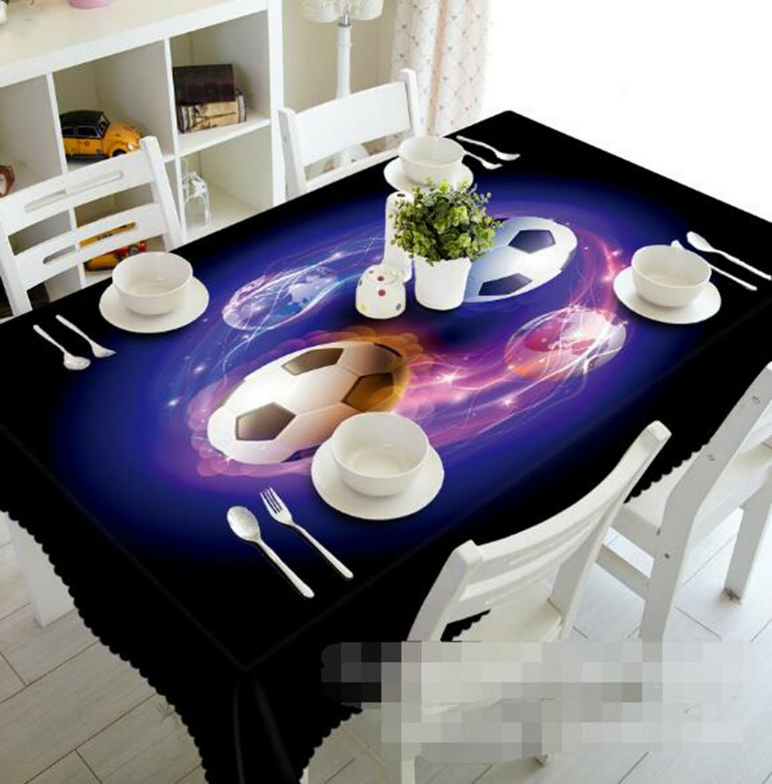 3D Football 102 Tablecloth Table Cover Cloth Birthday Party Event AJ Lemon