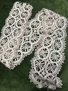 1920s-French-Lace-Crochet-Antique-Silk-Cream-Floral-Vintage