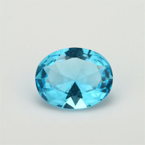 Size 2x3~13x18mm Oval Shape Light Sea Blue Loose Glass Beads Synthetic Gemstone