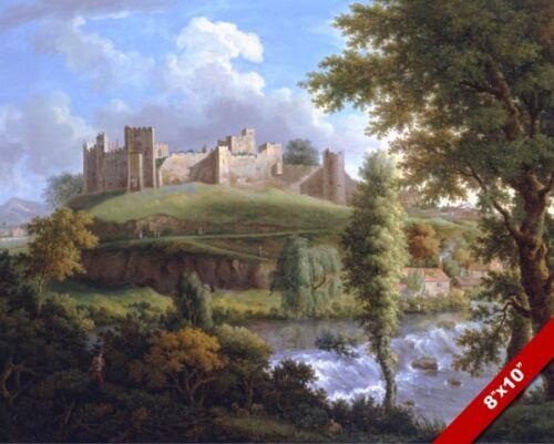 LUDLOW CASTLE SHROPSHIRE ENGLAND LANDSCAPE PAINTING ENGLISH ART CANVAS PRINT