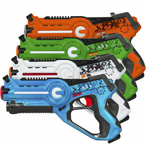 KIDS-LASER-TAG-TOY-BLASTERS-Multiplayer-Mode-4-pk-Set-FAMILY-Outdoor-Active-GAME