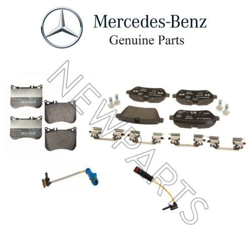 For Mercedes W222 Maybach S550e Rear /& Front Brake Pads Set w// Sensors Genuine