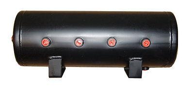 V Air Tank 5 Gal Steel 8 Port For Air Ride Suspension Train Horn or Air Bags
