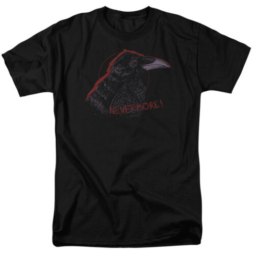 Adult T-Shirt All Sizes Raven Picture NEVERMORE