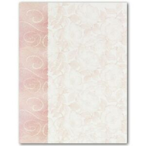 image is loading roses and swirls wedding letterhead paper 100 pk