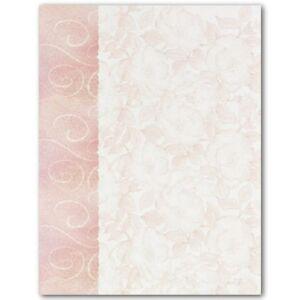 Roses And Swirls Wedding Letterhead Paper 100 Pk 601952307553 Ebay