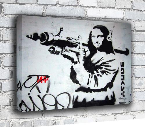 Mona Bazooka Banksy Canvas