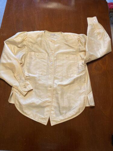 Jim Thompson 100% Thai Silk Button Down Shirt Size