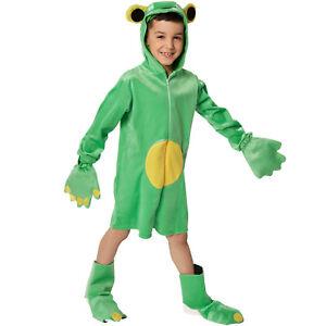 in vendita ultime versioni grandi affari sulla moda Dettagli su Costume Bambini Ranocchia Rana Animali Vestito Travestimento  Carnevale Halloween
