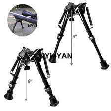 "6"" to 9"" Adjustable Spring Return Sniper Rifle Bipod  Sling Swivel Mount Hunting"
