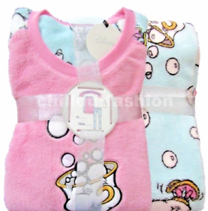 78b4f2d80946 Ladies Fleece Pyjamas DISNEY CHIP Women s Girls Winter PJs Sizes 6 ...
