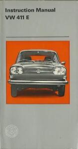 VW-411-E-Driver-s-Manual-1969-Instruction-Manual-Owner-s-Manual-handbook-BA