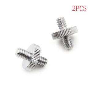 2PCS-1-4-034-1-4-034-Male-to-1-4-034-Male-Threaded-Screw-Adapter-Double-Head-Screw-dd