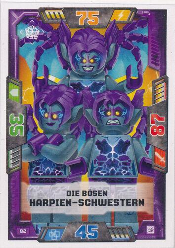 LEGO Nexo Knights Sammelkarten Serie 2-82 Die bösen HarpienSchwestern Schurken