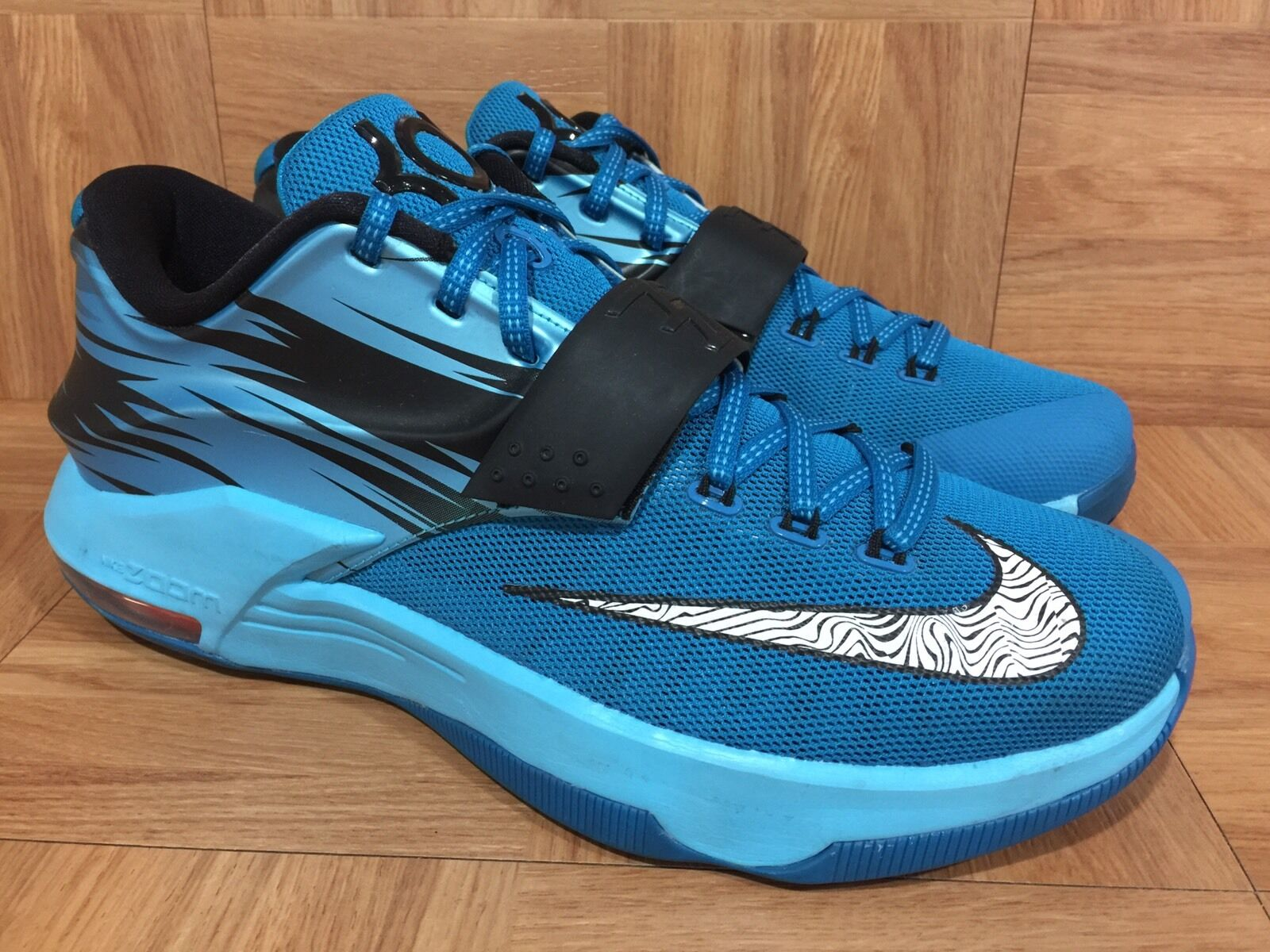 RARE  Nike KD VII Light Blue Lacquer Clearwater Total Orange Sz 10.5 653996-414