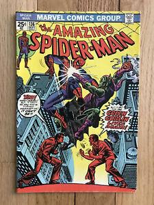 Amazing-Spider-man-136-FN-5-5-1st-Appearance-Harry-Osborn-as-Green-Goblin