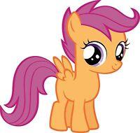 My Little Pony Scootaloo Iron On T Shirt / Pillowcase Fabric Transfer 1