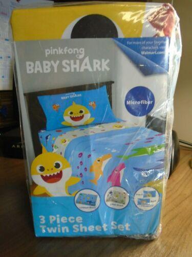 Pink Fong Baby Shark Sheet Set New