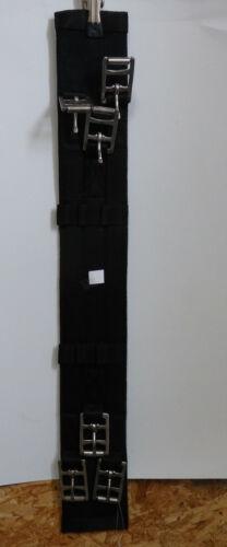 FWF  Kurzgurt 3 Schnallensystem schwarz 65cm Textil