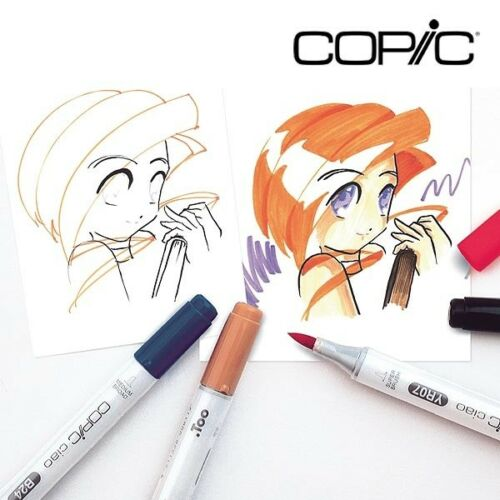 Copic Ciao E29 burnt umber Layoutmarker mit Keil und Pinselspitze