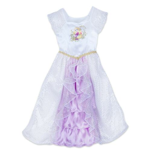 NEW Disney Store Rapunzel Deluxe Nightgown Costume Dress 4 NWT Tangled