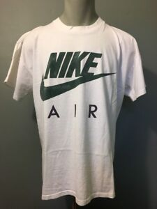 5bbcb910 Details about Vtg 80s 90s Nike Air Grey Tag T-shirt Mens XL White Cotton  Green Swoosh Logo USA
