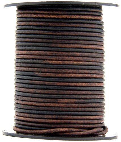 Xsotica® Gypsy Sippa Natural Dye Round Leather Cord 1.5mm 50 meters 54 yards