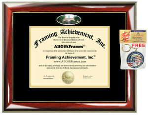 Ohio University Diploma Frame Campus Photo College Certificate Degree Graduation Ebay