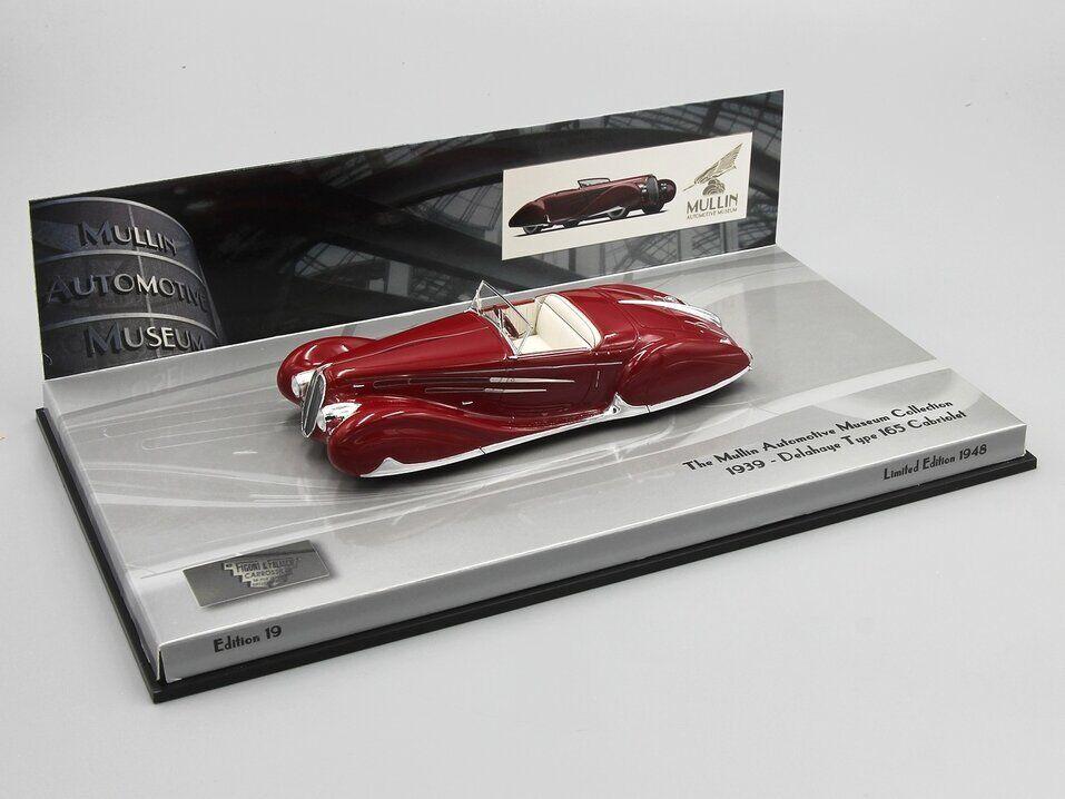 Minichamps 1 43 DELAHAYE Type 165 Cabriolet 1939 Rouge