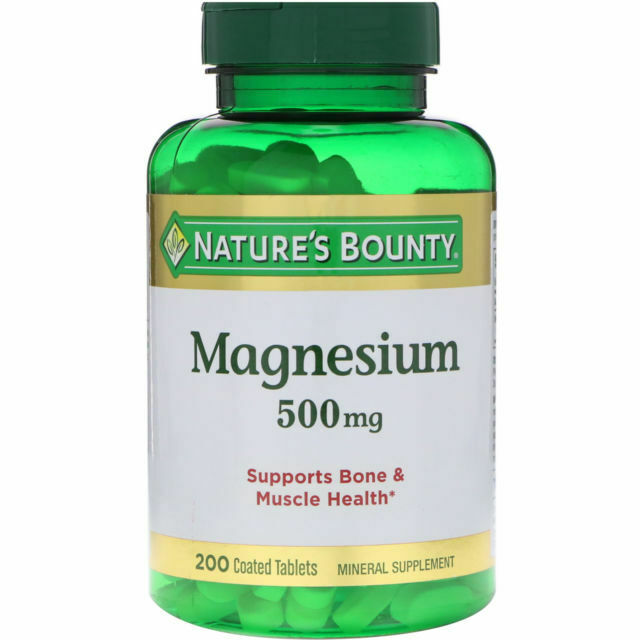 Nature's Bounty Magnesium 500 mg Mineral Supplement - 200 Ta