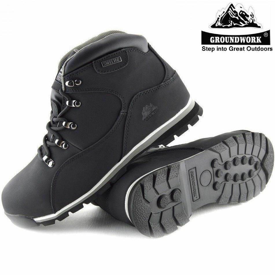 NEW MENS LADIES WOMENS LIGHTWEIGHT STEEL TOE CAP SAFETY ANKLE WORK BOOTS SHOES Z