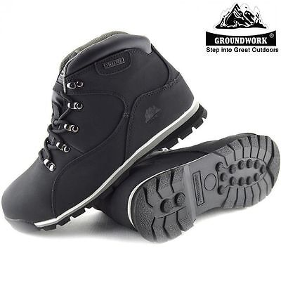 Mens Groundwork Lightweight Steel Toe Cap Safety Ankle Work Boots Shoes Trainers