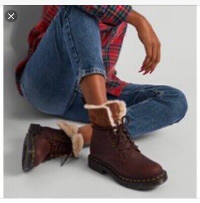 Dr. Martens 1460 Kolbert Wintergrip women's boots in Brown MSRP $175 | eBay