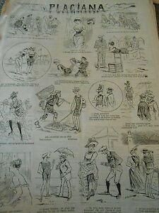 Typo-1890-Pele-Mele-de-dessins-Plagiana-Defile-Pecheurs-Autographes-cabines-etc