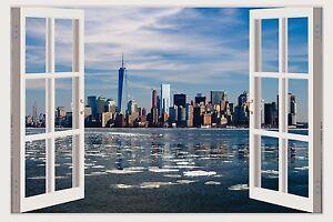New York Skyline D Window Wall Decal Vinyl Stickers Home - 3d window wall decals