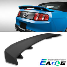 For 2010 2014 Ford Mustang Gt 4 Pedestal Matte Black Trunk Rear Spoiler Wing Fits Mustang