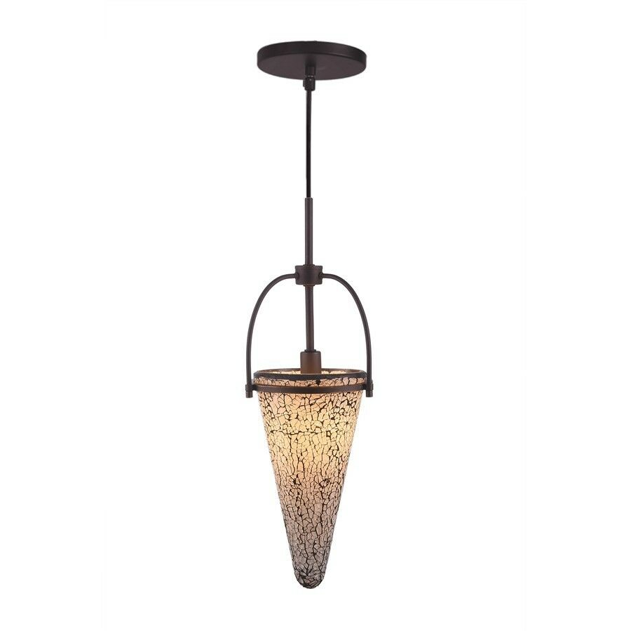 Woodbridge Lighting Kenda 1-Light Mini-Pendant, Mosaic Weiß - 14623MEB-M40WHT