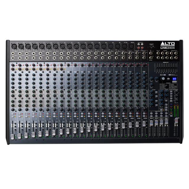 Alto Pro LIVE 2404 24 Channel 4 Bus + USB PA Mixer or Studio Mixing Desk 100x FX