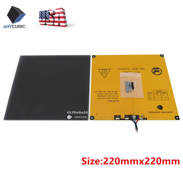 US Ship ANYCUBIC 220x220mm Ultrabase Glass Build Plate Platform for 3D Printers