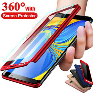 360-Full-Cover-Case-Tempered-Glass-For-Samsung-Galaxy-J3-J5-J7-J8-J6-J4-Plus
