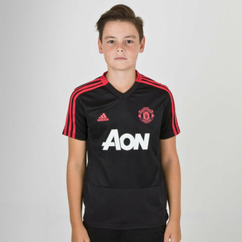 Adidas Manchester United 18//19 enfants à manches courtes football training shirt Noir