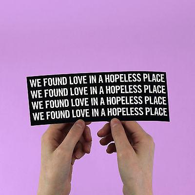 "Rihanna Sticker! ""We found love"" calvin harris, riri, beyonce, jay z, kanye west"
